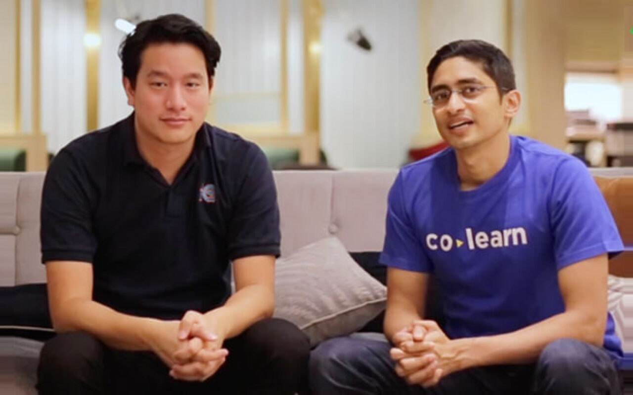 Colearn founders Abhay Saboo and Marc Irawan